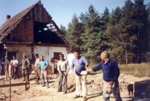 Remont domku – lato 1999r.